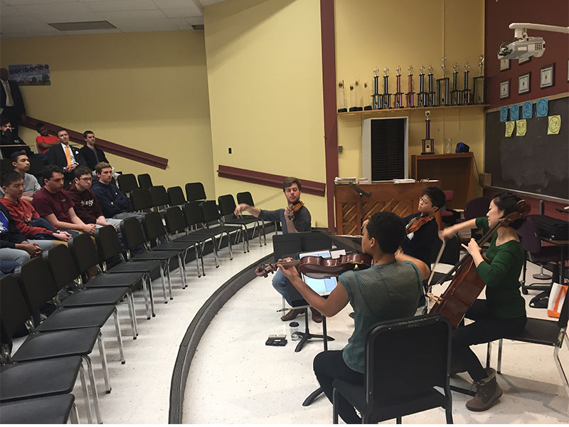 Renowned Quartet Works with HS Musicians